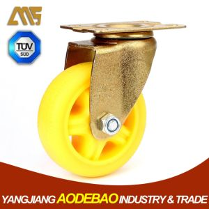 Light Duty Golden Plating Swivel TPR Caster Wheel pictures & photos
