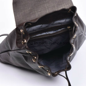 Elegant Genuine Leather Backpack Bag with Drawstring Closure pictures & photos