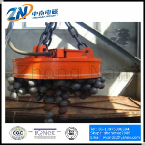 Circular Crane Lifting Electromagnet for Steel Scrap Handling with 75% Duty Cycle MW5-210L/1-75 pictures & photos