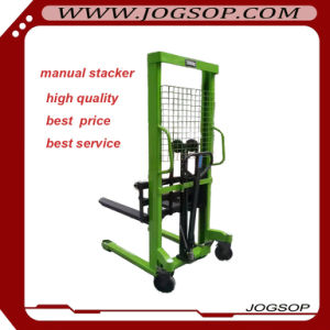 Single Mast Hydraulic Manual Stacker 500kgs pictures & photos