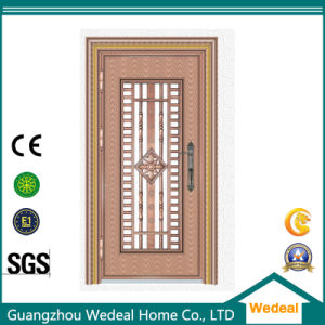 Flush Single Decorative Security Stainless Steel Door for Villa pictures & photos