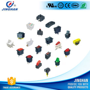 Super Quality LED Illumilated Round Rocker Switch on-off 3 Pins pictures & photos