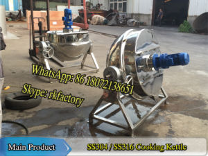 Stainless Steel Cooking Kettle 250liter Cooking Capacity with Powerful Gas Burner pictures & photos