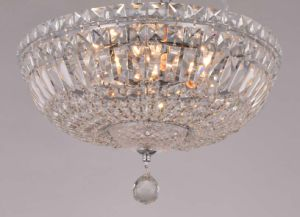 Long Life Round Base Antique Ceiling Light with Crystal Glass pictures & photos