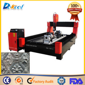 CNC 3 Dimension Marble Granite Engraving Router Machine with Rotary pictures & photos