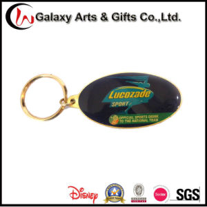Custom Printed Metal Keychains/Key Chain with Rubber Logo