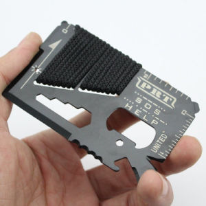14 in 1 EDC Outdoor Survival Multi-Function Card Rope Tool pictures & photos