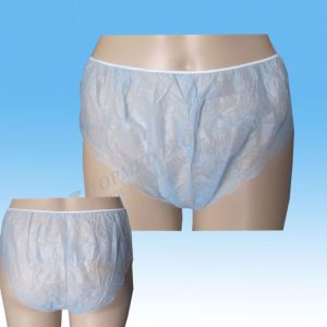 White Nonwoven Disposable Underwear/Briefs for Men pictures & photos