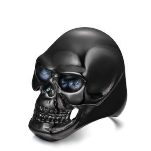 Fashion Designer Skull Titanium Stainless Steel Men Band Ring Jewelry pictures & photos
