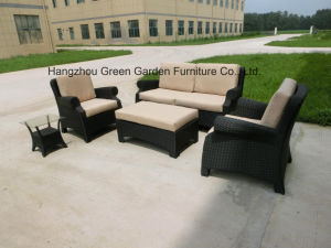 Wicker outdoor Sofa Set Sofa with Side Coffee Table pictures & photos