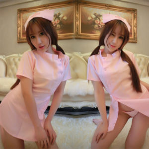 Night Club Cosplay Pink Nurse Sexy Dress Lingerie Dress pictures & photos