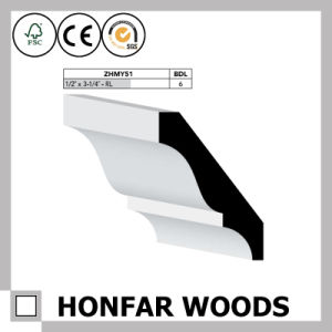 """1-1/8""""X2-1/2"""" Solid Wood Cornice Crown Moulding for European Hotel Building pictures & photos"""