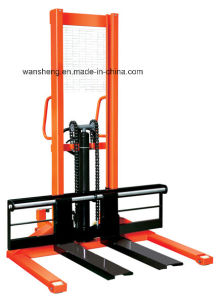 Straddle Leg Adjustable Forks Manual Stacker pictures & photos