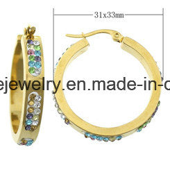 Shineme Jewelry Stainless Steel Jewelry Plating Gold Earring (ERS6895) pictures & photos