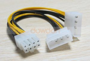 16cm 8 Pin PCI Express PCI-E Male to Dual Lp4 4pin Molex IDE Power Cable Adapter pictures & photos