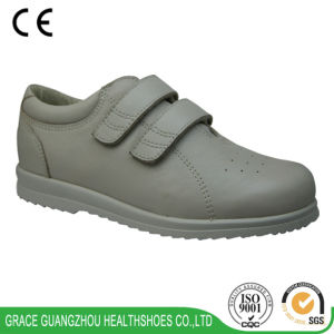 Health Diabetic Leather Shoes Casual Unisex Footware pictures & photos