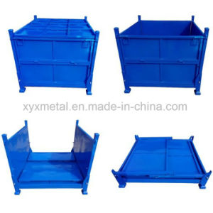Warehouse Metalstorage Folding Stackable Steel Stillage Container Bin pictures & photos