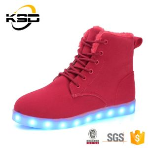 2016 New Product USB Charging LED Lights Shoes Women and Men LED Snow Boots pictures & photos