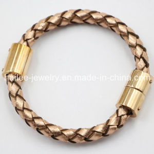 High Quality Stainless Steel Jewelry Leather Bracelet pictures & photos