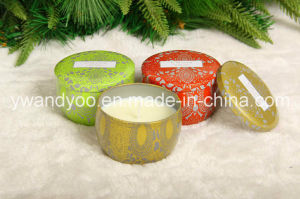 Colorful Pattern Printing Scented Tin Candles