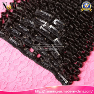 7 Day Return Gurantee/ Clip in Human Hair Extensions for Black Women pictures & photos