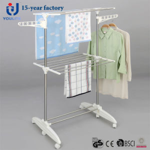 Multi-Purpose Stainless Steel Two Layer Clothes Dring Rack pictures & photos