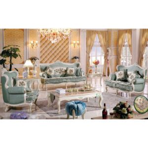 Living Room Furniture with Wooden Sofa Set (503B) pictures & photos