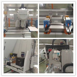 Stainless Steel Aluminum Profile Curtain Wall Three Axis CNC Milling Drilling Machine Center pictures & photos