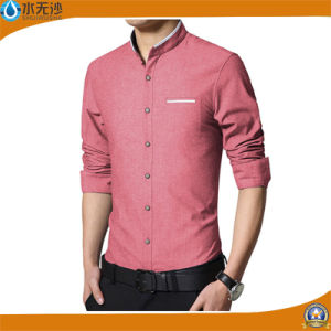 2017 Fashion Casual Men Shirt Long Sleeve Slim Fit Shirt pictures & photos