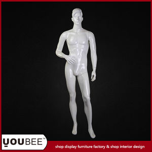 Hot Sale Glossy White Realistic Male Mannequin for Window Display pictures & photos