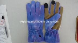 Lycra Fabric Glove-Nubuck Palm Glove-Garden Glove-Labor Glove-Work Glove pictures & photos