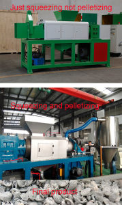 PP PE Woven Material Squeezing Cutting Drying Machine pictures & photos