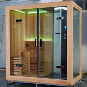 Customized Left or Right Side Sauna Steam Room with Shower pictures & photos