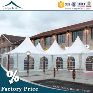 Flame Resistant PVC Garden Outdoor 4m X4m Party Pagoda Canopy Gazebo Tent for Sale in China pictures & photos