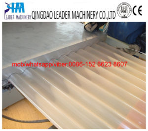 880mm Width PVC Corrugated Roofing Sheets Plastic Extrusion Machine pictures & photos