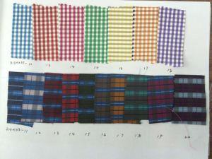 Fashion Check Square Computer Loom Machine Micro Fabric pictures & photos