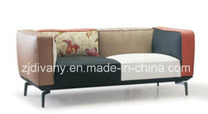 Italian Modern White Fabric Leather Sofa (D-73-C) pictures & photos