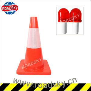 Wholesale Rebound Square Reflective Colored PVC Traffic Cone pictures & photos
