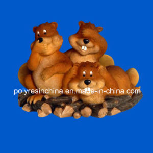 Polyresin Funny Animal of Squirrel Statue pictures & photos