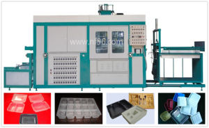 Automatic Plastic Cup Lids Molding Machine / Plastic Tray Forming Machine