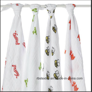 Promotional Wholesale Baby Muslin Cotton Swaddle Blanket Made in China pictures & photos