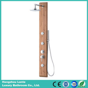 Wall Bath Bamboo Shower Set with Hand-Held Shower (LT-M207) pictures & photos