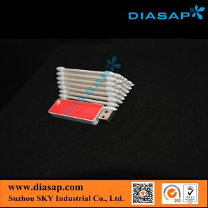 Eco-Frindly Cotton Buds Swabs for Cleaning Optical Connecter (ST-004) pictures & photos