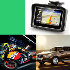 4.3 Inch Motorcycle Bluetooth GPS Navigation Free Map Support