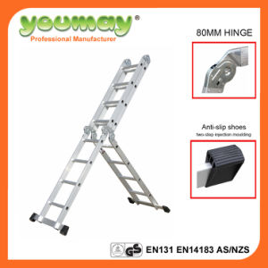 En131 Approved Garden Ladder Kitchen Ladder Household Ladder with 150kgs Max Load for Am0116A