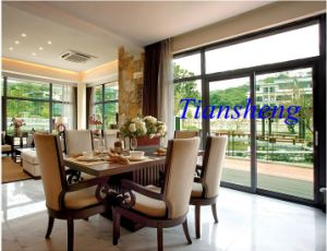 Aluminum Large Glass Sliding Stained Glass Sliding Doors pictures & photos