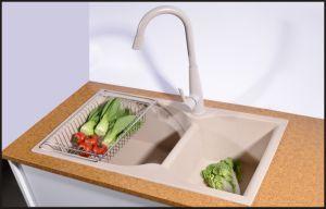 Undermount Single Granite Quartz Sink for Kitchen pictures & photos