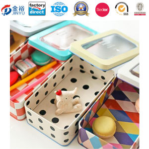 PVC Window Metal Tin Container for Storage Box pictures & photos
