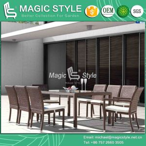 Garden Dining Set with Special Weaving Rattan Arm Chair Wicker Armless Chair (Magic Style) pictures & photos
