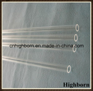 High Purity Clear Fused Silica Quartz Glass Tubing Heating pictures & photos